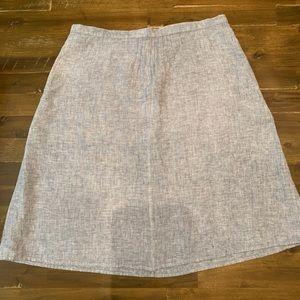 Kate Hill Blue Linen Skirt